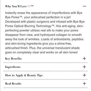 it cosmetics Makeup - Bye Bye Pores Poreless Finish Airbrush Powder